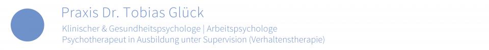 Willkommen auf der Website der psychologischen Praxis von Mag. Tobias Glück